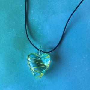 Murano Lamp-Work Heart Necklace